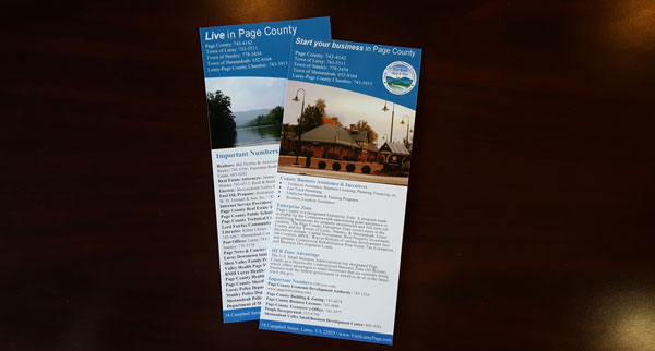 Luray-Page County Business Information Rack Card