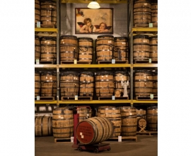 Copper Fox Distillery Barrel Room