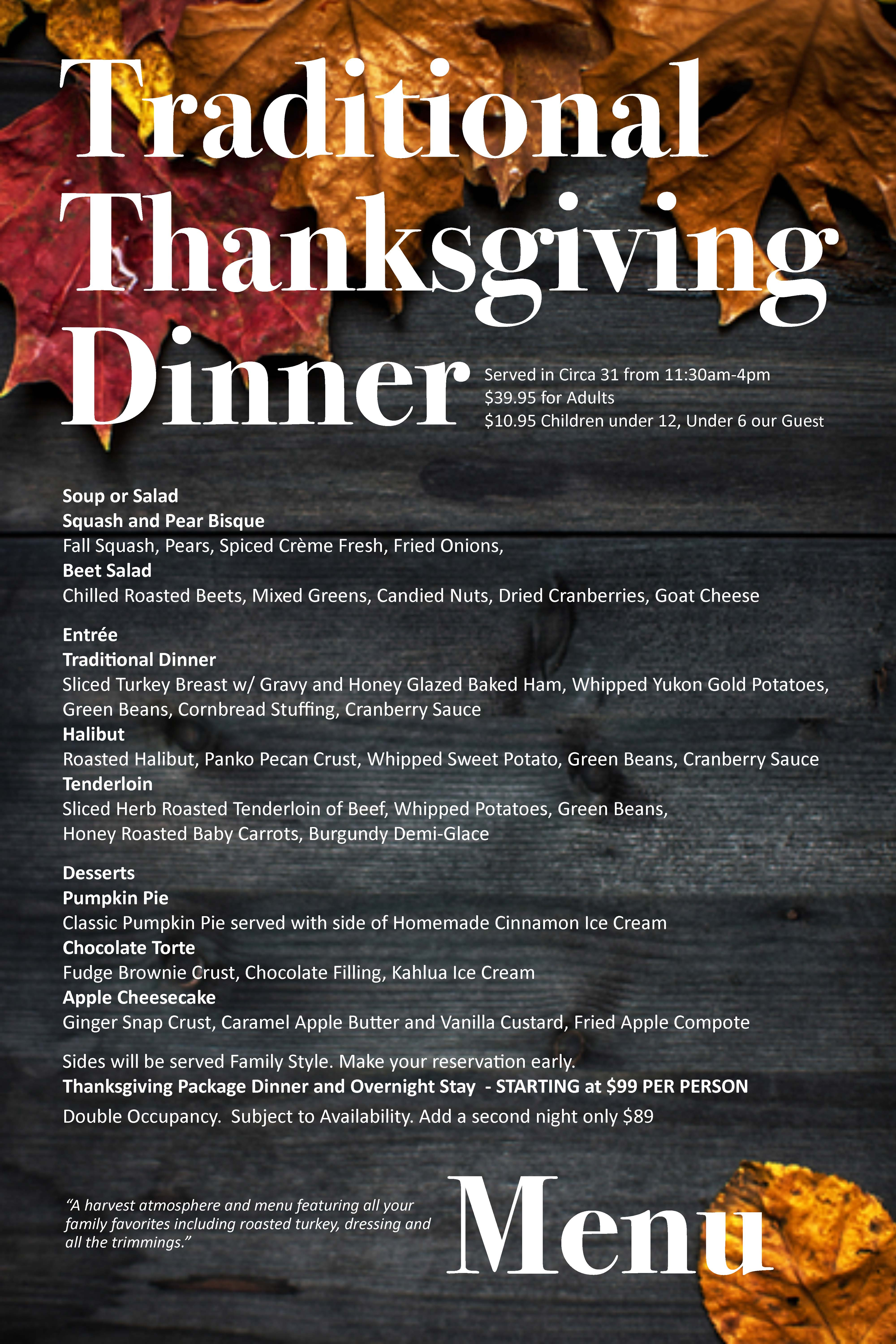 Thanksgiving Day Dinner Luray Page Chamber Of Commerce