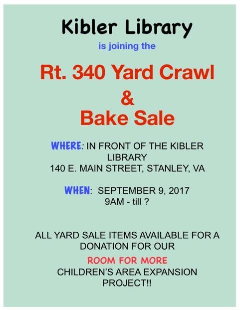 Rt  340 Yard Crawl & Bake Sale | Luray-Page Chamber of Commerce