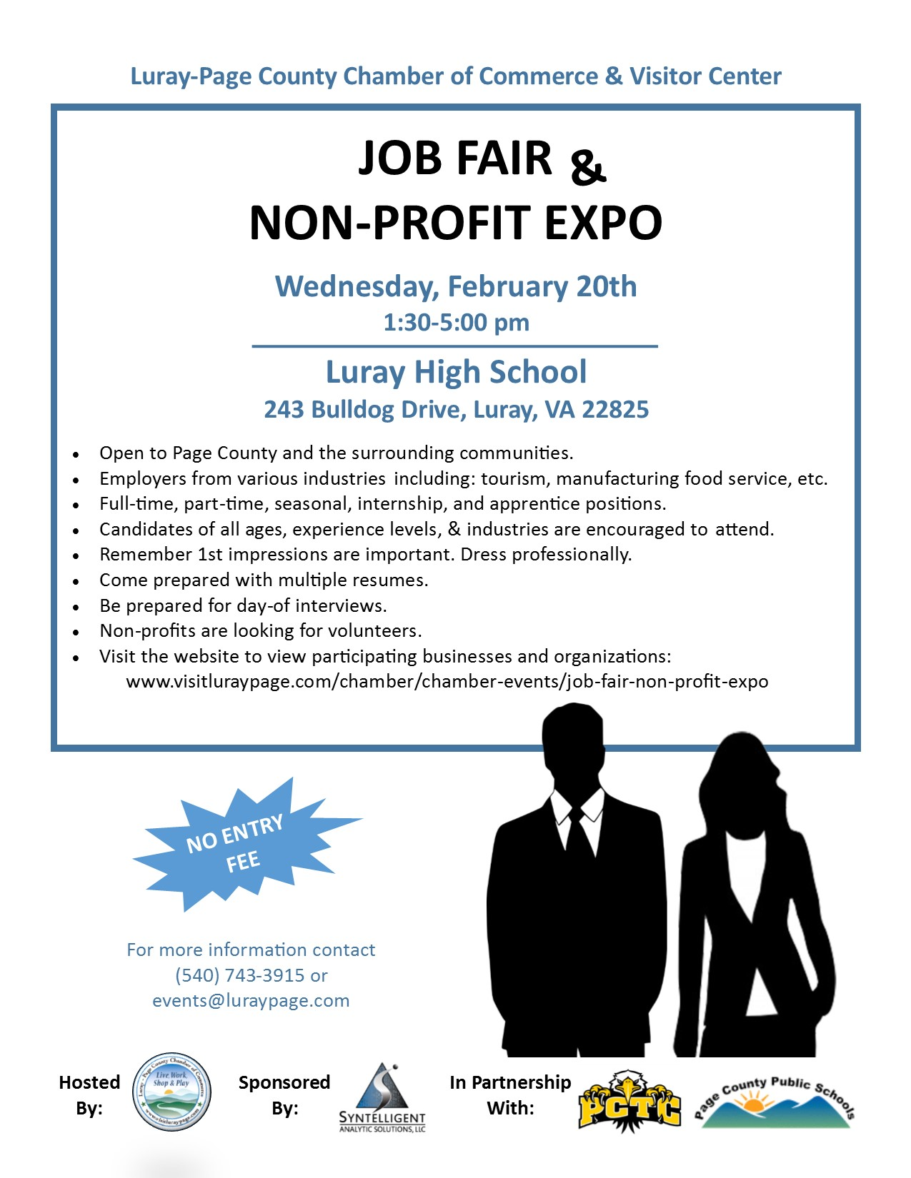 Chamber Job Fair & Non-Profit Expo | Luray-Page Chamber of