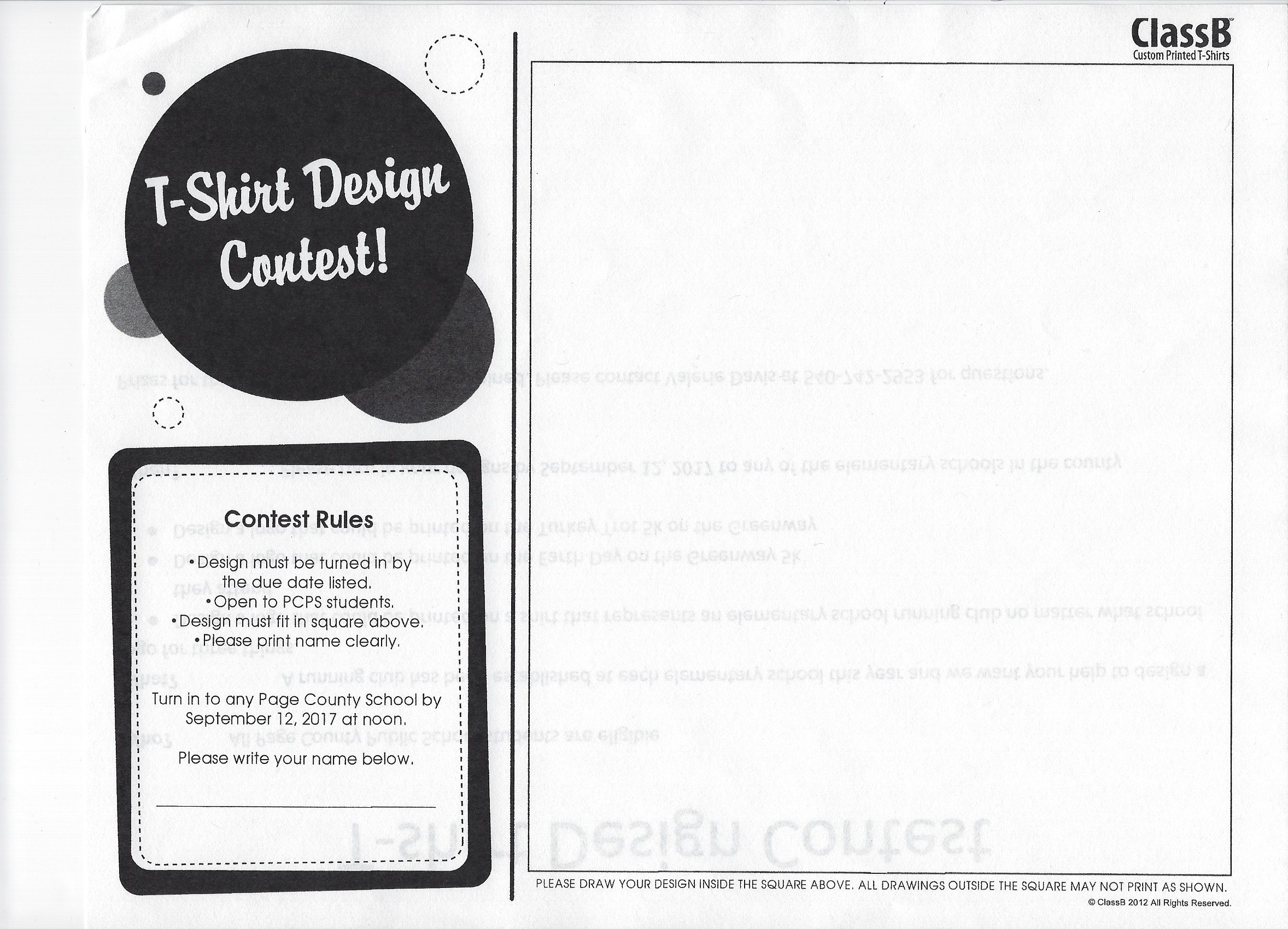 T Shirt Design Contest Luray Page Chamber Of Commerce